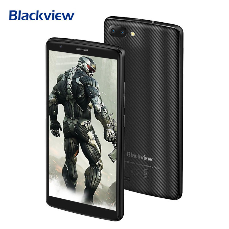 Origional Blackview A20 3G Unlocked 18:9 Smartphone 5.5 Inch Android Go OS MT6580 Quad Core 1G+8G Mobile Phone 5G WiFi 3000mAh
