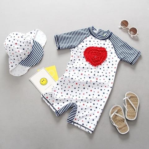 swimwear para meninas de poliester solidos maios outfits k417 criancas