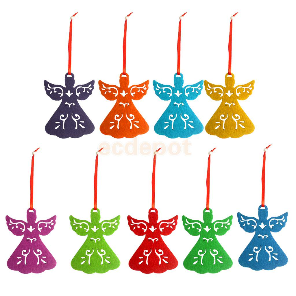 Christmas Ornament Angels From Office Supplies: Pack Of 9 Christmas Tree Angel Ornaments Hanging Decor 9