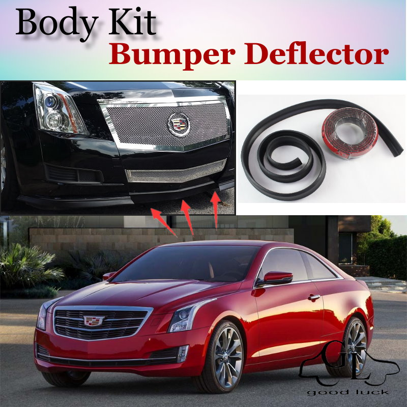 Bumper Lip Deflector Lips For Cadillac ATS 2012~2015 Front Spoiler Skirt For TopGear Friends to Car Tuning / Body Kit / Strip