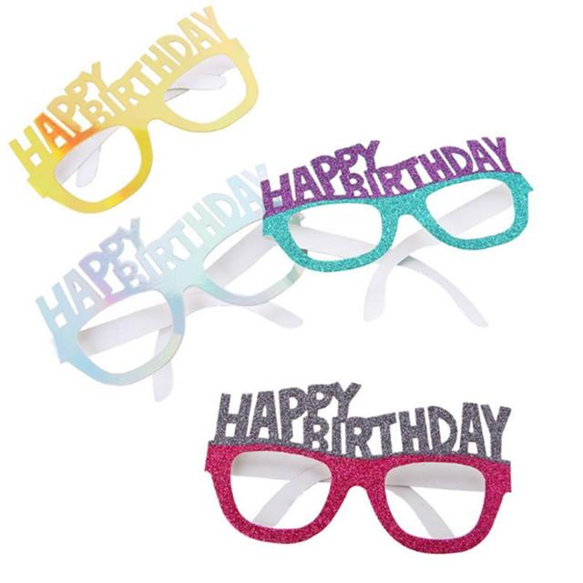4 Pcs Paper Party Eyeglasses Frames Happy Birthday Party Supplies ...