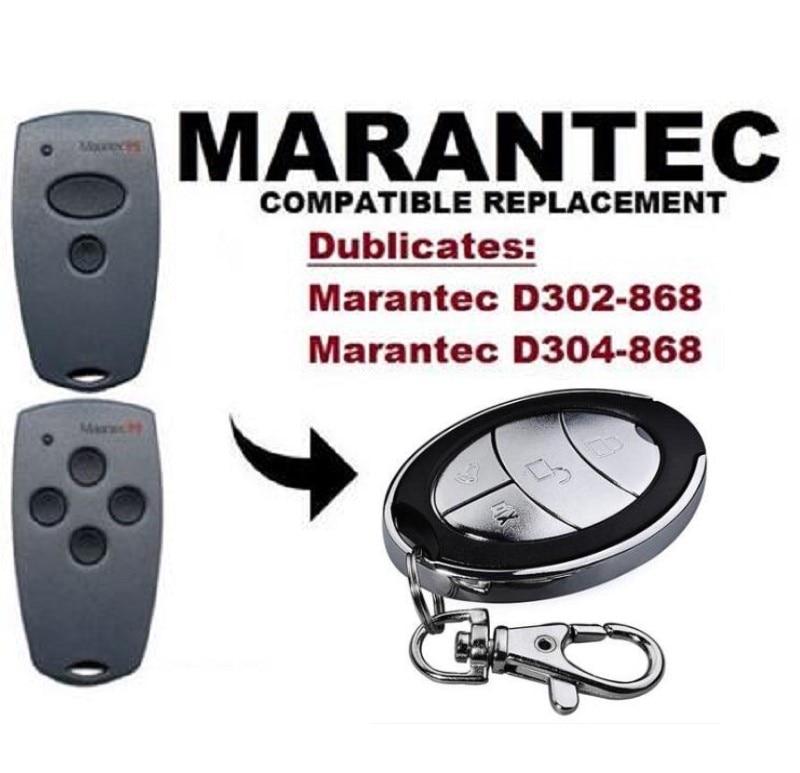 Marantec D302-868   D304-868 Compatible Remote Control Duplicator Garage Gate Remote Control