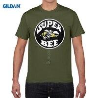 GILDAN Brand Summer Men Cotton Clothing High Quality Custom New Super Bee Logo Vintage Dodge Classic