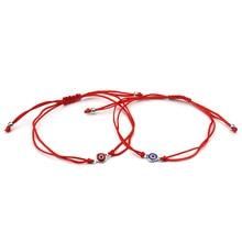 Lucky Eye Thin Red Thread Evil Eye Charms Bracelet String Rope Braided Bangles Bracelets For Women Men Adjustable Length
