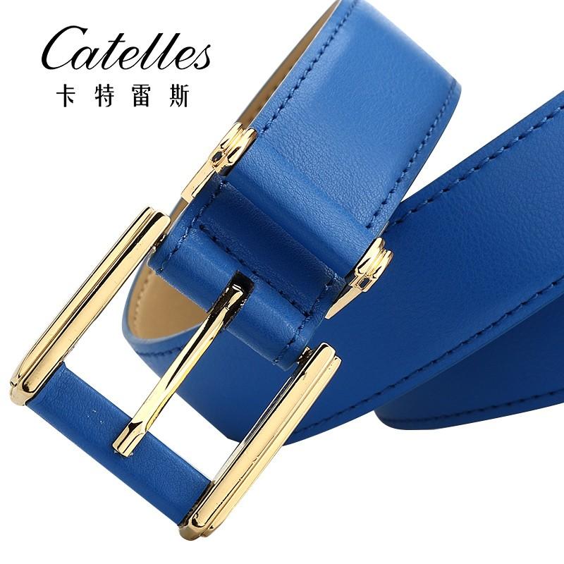 CASTELLES Formal Belts For Women 6 colors Designer Fashion Female Belt Woman High Quality Genuine Leather Cinturones Mujer (8)
