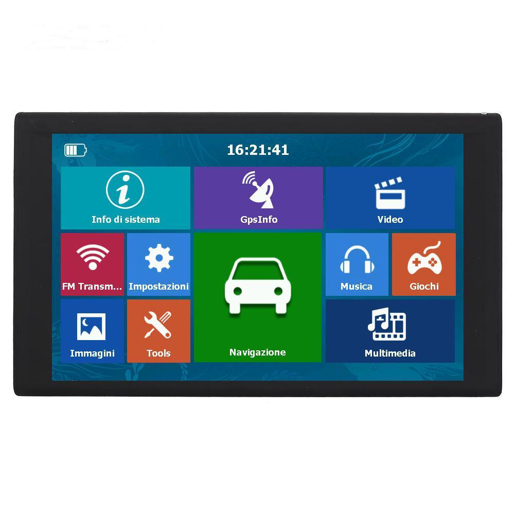 LumiParty 256 mo + 8G HD 9 pouces écran tactile capacitif Portable GPS navigateur carte de l'europe australie navigateurs de voiture