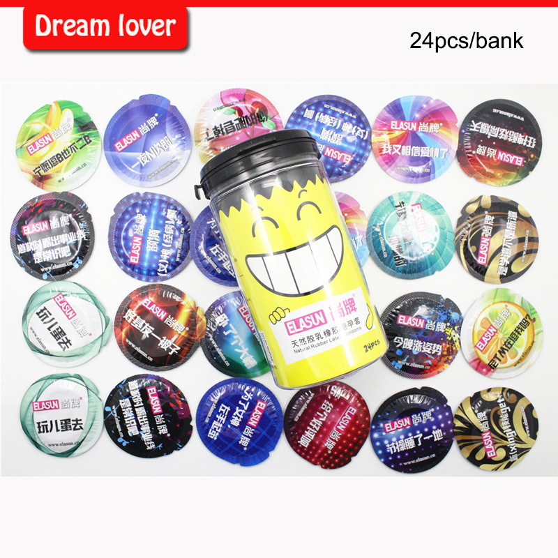 Yelow bank Elasun condoms man lifestyles 8 styles in one box condoms sex toy products for men fruit flavours super thin
