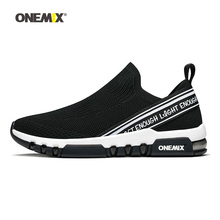 купить ONEMIX running shoes for men sports sneakers breathable mesh outdoor jogging sock-shoes soft cushion sneakers for walking по цене 3516.43 рублей