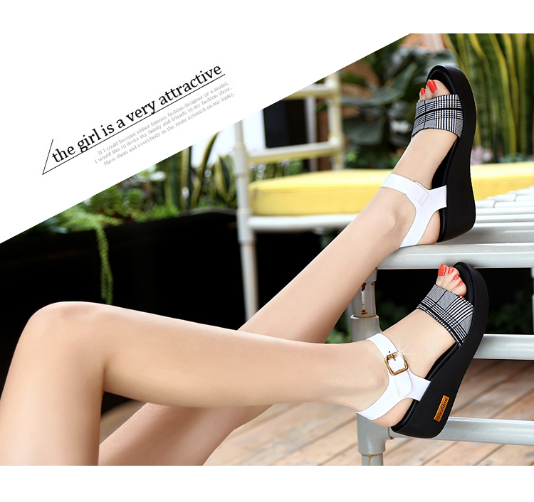 Sandals Female Summer Flat 2019 New Wild With High Heel Wedges Comfortable Non-slip Soft Bottom Pregnant Women Mother Shoes 67