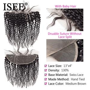 Image 3 - פרואני קינקי מתולתל חבילות עם חזיתי רמי 13*4 מראש קטף תחרה פרונטאלית ISEE שיער שיער טבעי חבילות עם פרונטאלית