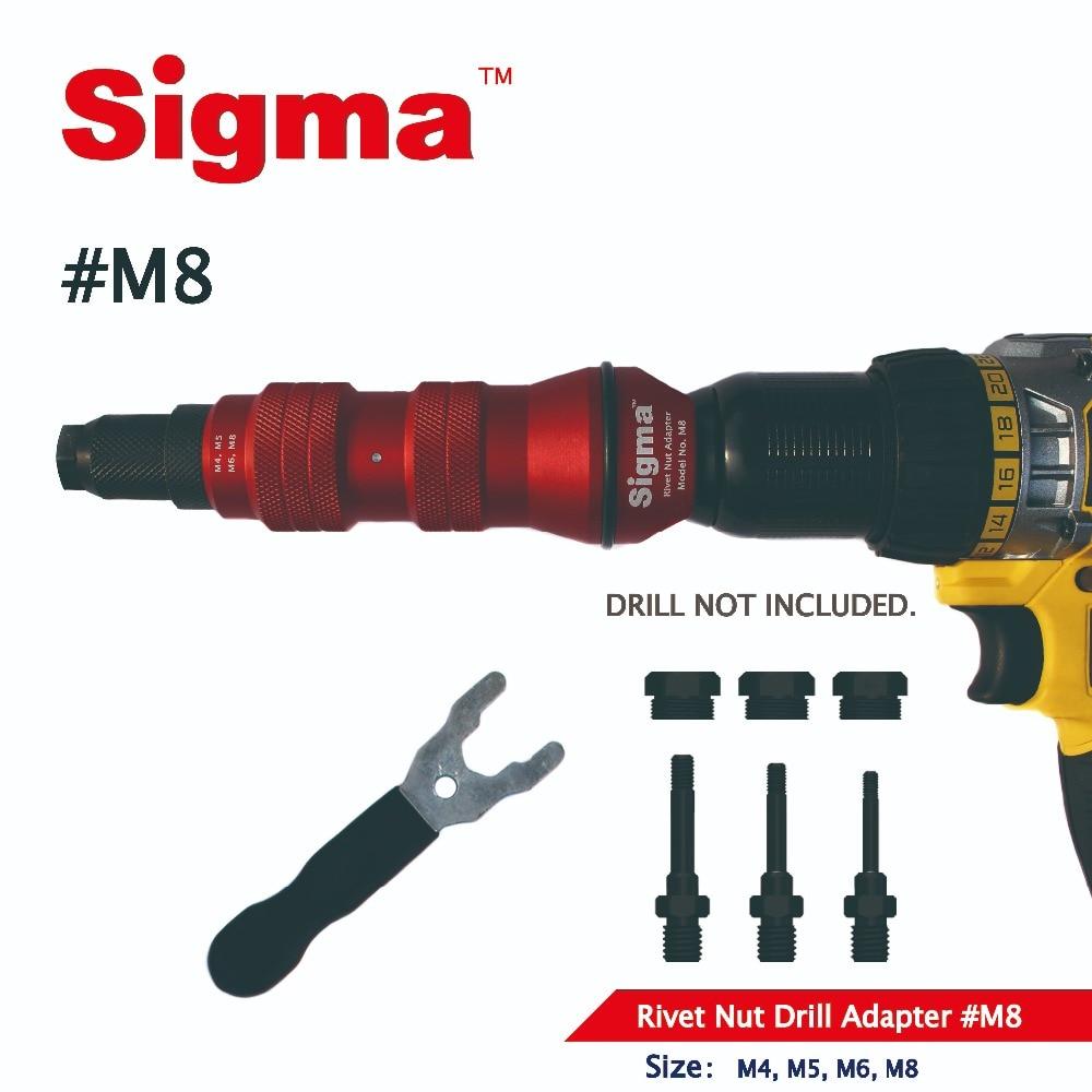 M8 Nut Tool Threaded Cordless Sigma Rivet Nut Alternative Power Pneumatic Drill Adapter Gun Accessory  Or Electric Rivet Air