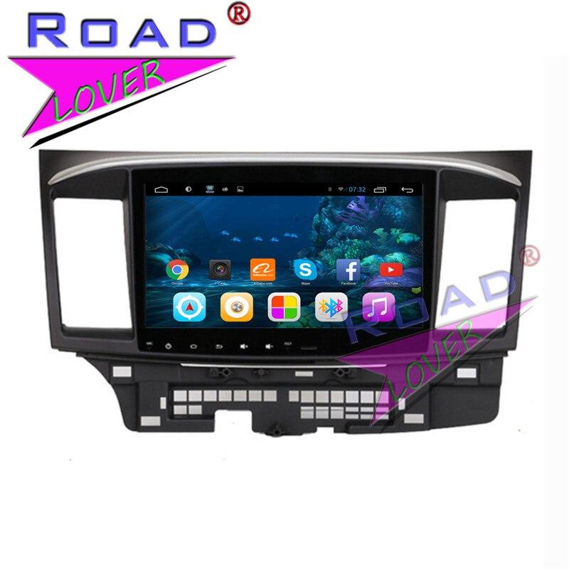Topnavi 4 ядра 2 г + 32 ГБ 10.1 дюйма Android 6.0 Автомобильные ПК Системы Media Center для Mitsubishi Lancer 2006- 2012 Стерео GPS навигации