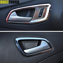 Poignée intérieure chromée pour Ford Escape Kuga 2013 2014 2015 2016 2017 2018, garniture de porte, cadre, moulage, garniture