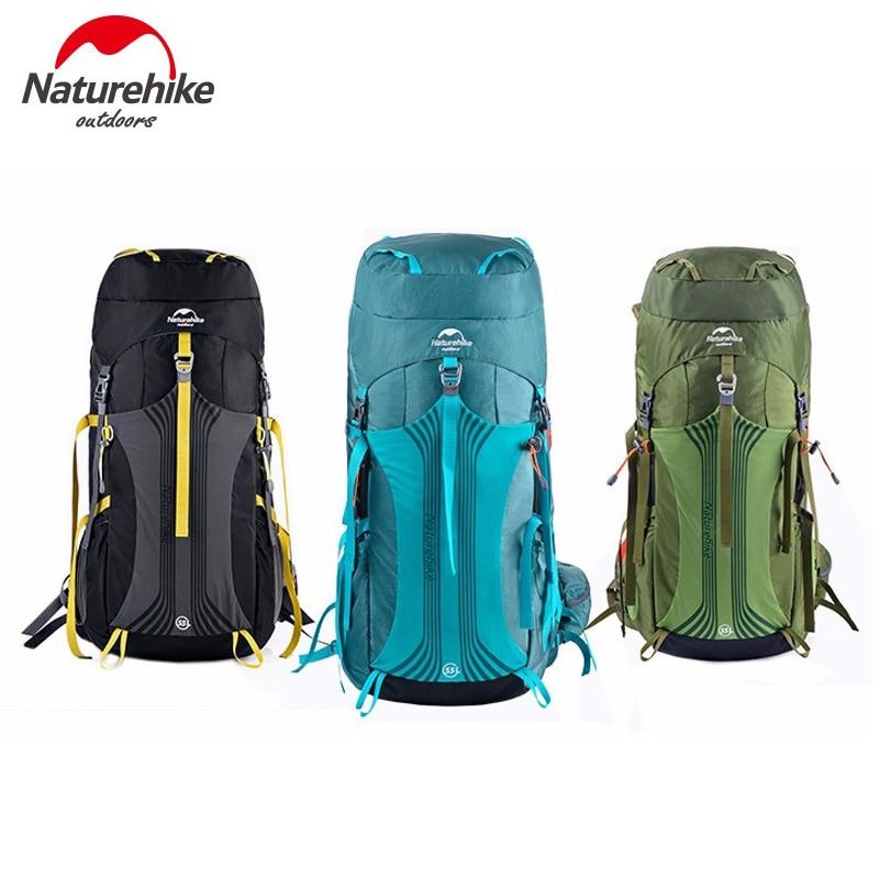 Naturehike Unisex de gran capacidad Mochila deportiva al aire libre transpirable viaje Trekking mochila NH16Y020-Q/NH16Y065-Q
