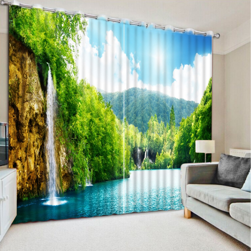 Custom Any Size Nature Scenery 3d Curtains Blackout