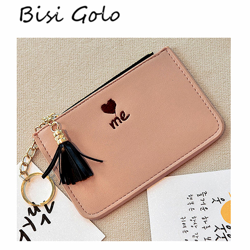 BISI GORO Small Zipper Women Wallet For Coin Card Cash Fashion Lady Small Purse Short Solid Female Clutch Mini Card Holder new fashion small lady wallets coin purse lady with card holder vintage women wallet short mini purse best gift for friend500835