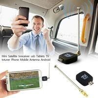 Высокое качество HD tv Mini DVB-T спутниковый ТВ приемник тюнер мини черная антенна для Android планшет смартфон