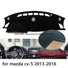 For mazda cx-5 cx5 2013-2016 Double layer Silica gel Car Dashboard Pad Instrument Platform Desk Avoid Light Mats Cover Sticker