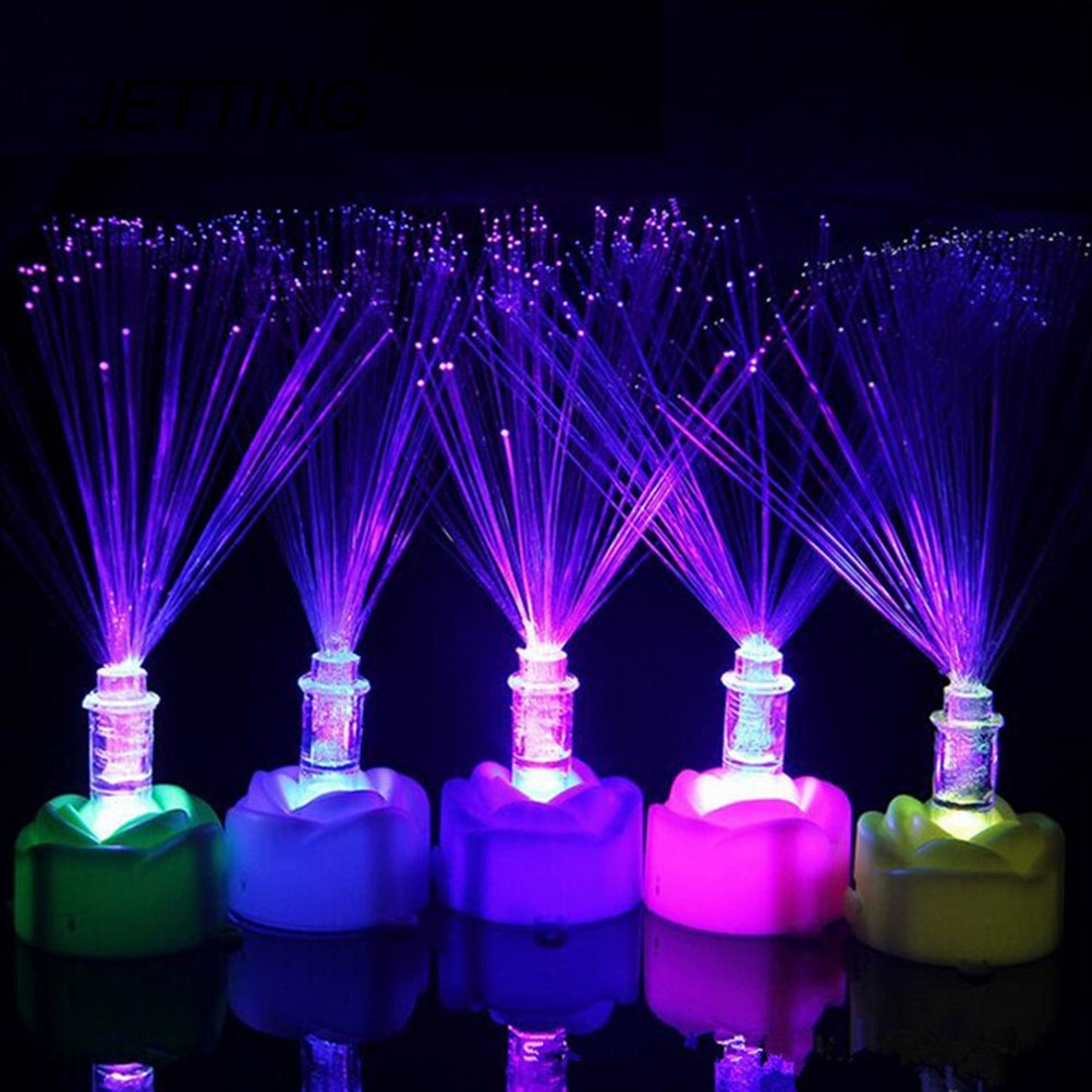 1PCS Beautiful Romantic Color Changing LED Fiber Optic Nightlight Lamp Small Night Light Chrismas Party Home Decoration New