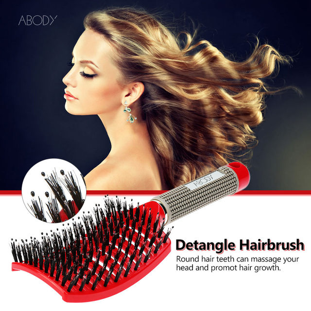 Abody Comb Hair Brush Scalp Professional Hairbrush Hair Women tangle Hairdressing Supply brush Tool hair comb for drop shipping