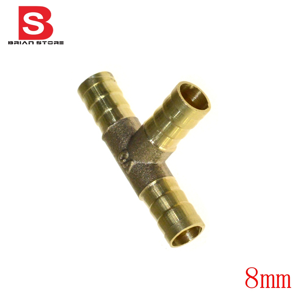 Hose barb dimension mm tee brass barbed tube pipe fitting
