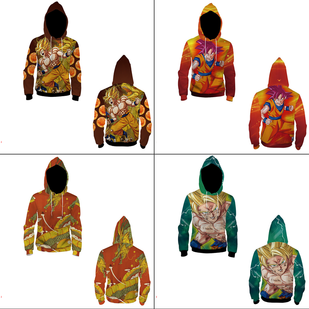 Anime Dragon Ball Z <font><b>Sayajins</b></font> 3D Print Sweatshirts Pullover Hoodies Teenager Hiphop Cosplay Loose Streetwear Jacket Coat Costume image