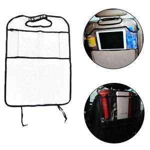 Image 2 - Car Back Seat Organizer Car Multi Pocket Back Seat Storage Bag Organizer Phone Pocket Pouch for Book Tablet Mobile Drinks Tissue