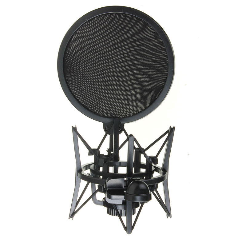 High Quality Microphone Mic Professional Shock Mount With Pop Shield Filter Screen R1BO 3
