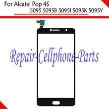 Black New Touch Screen Digitizer Glass Lens For Alcatel Pop 4S 5095 5095B 5095I 5095K 5095Y