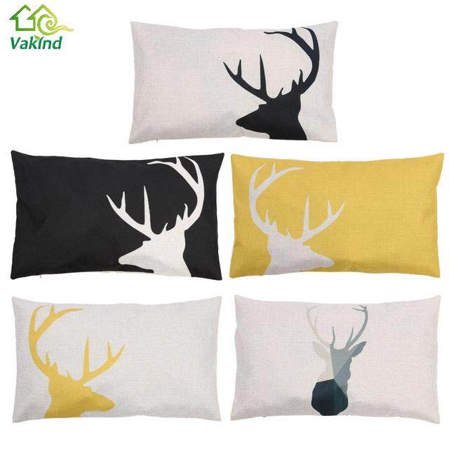 30 X 50cm Hot Sale Deer Pattern Pillowcase Cotton Linen Pillow Case