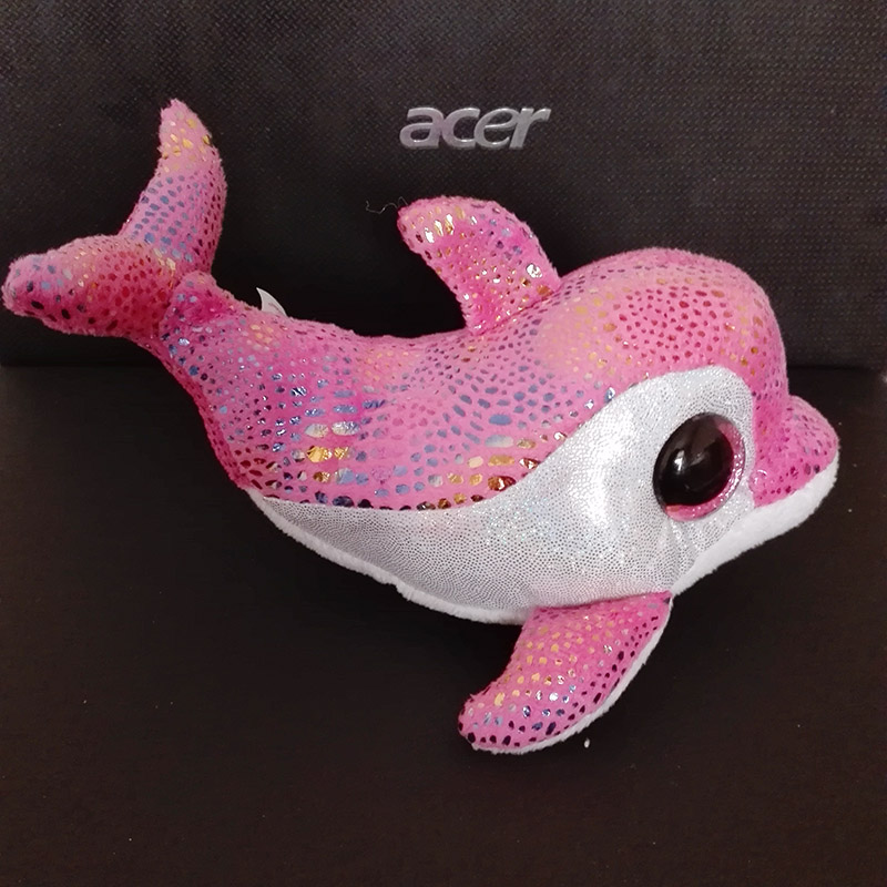 f2eed42d889 In Stock Original Ty Beanie Boos Big Eyed Stuffed Animal Sparkles pink  sparkle dolphin Plush Doll Kids Toy 6   Birthday Gift-in Stuffed   Plush  Animals from ...
