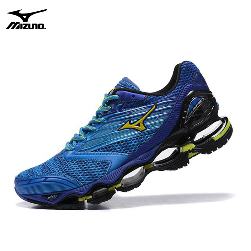 751f71015ac5 ... real mizuno wave prophecy 5 professional men running shoes royal blue  sneakers weight lifting shoes basketball