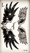 Body Art Waterproof Temporary Tattoos For Men And Women Personality 3d Wings Design Small Tattoo Sticker HC1161