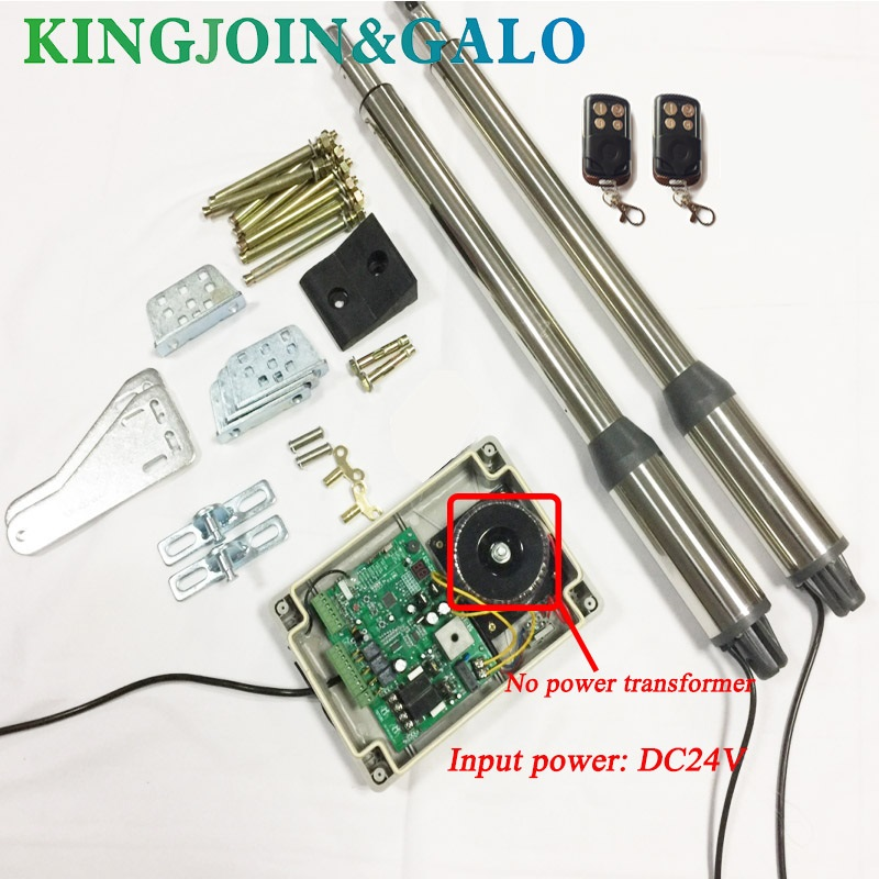 AC/DC 24V Input Voltage Electric Linear Actuator 300kgs Engine Motor System Automatic Swing Gate Opener + 2 remote control ac220v electric linear actuator 300kgs engine motor system automatic swing gate opener 2 remote control
