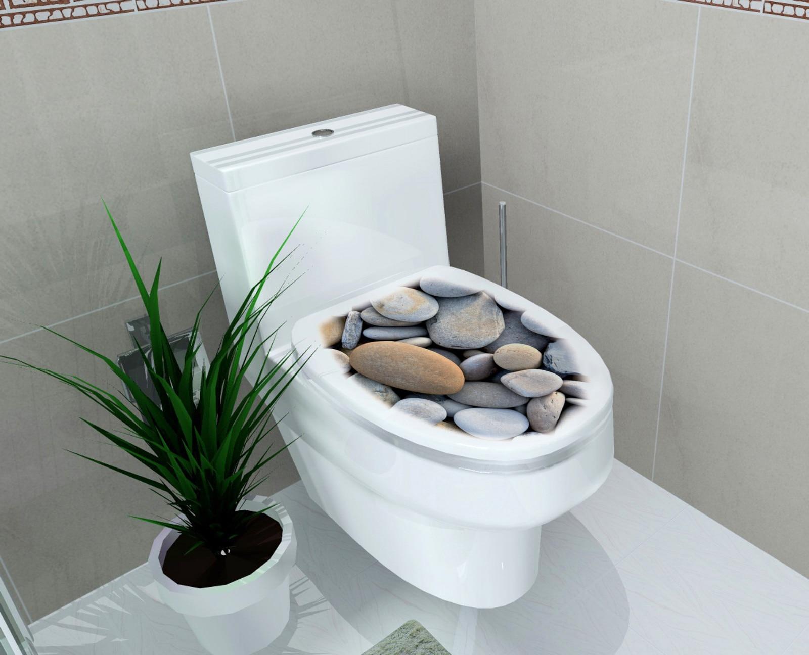 Hot Selling DIY Steen Toiletbrillen Stickers Badkamer Decoratie ...