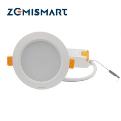 ZigBee 3.0 Smart RGBW Downlight Led Bulb Light Work with Amazon Echo Plus Directly 12w Smart Lighting Solution