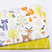 Baby Cotton Patchwork Cloth Printed Deer Kids Twill Fabric for DIY Sewing Quilting Fat Quarters Material For Baby&Child
