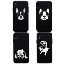 6d12b4a7aea Lindo perro Pug Bulldog Boston Terrier suave funda de silicona para 6s  iphone 6 plus 5s SE caso para iphone 7 8 plus X XS X Max .