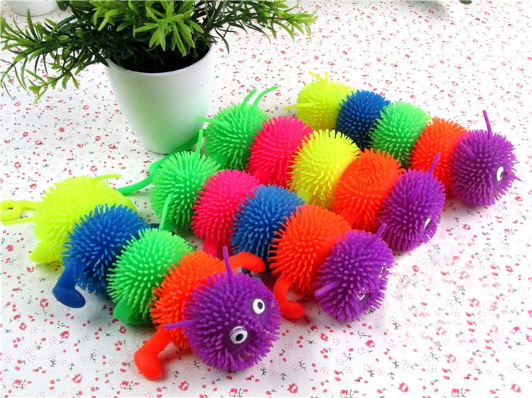 Small five doll The caterpillar vent ball The caterpillar discus Children s toys gifts