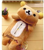 Plush Toy 1pc Cartoon Rilakkuma Relax Bear Vehicle Tissue Paper Towel Cover Decoration Children Stuffed Birthday