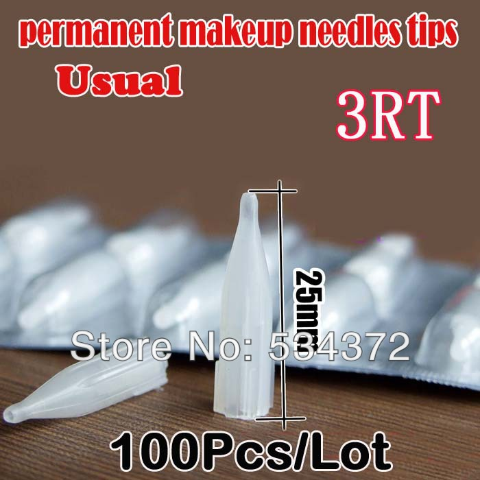 3RT Free Shipping Permanent Makeup Eyebrow Tips Machine Pen Tips