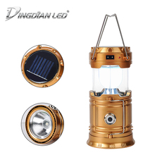 Solar Rechargeable Camping Lantern Portable Led Camping Flashlights LED Solar Rechargeable Hand Lamp Light Torch 2.5W Flashlight outdoor 3 in 1 emergency charger hand cranking solar usb rechargeable led flashlight torch camping lamp light fm am radio