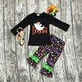 Meninas do bebê roupas meninas bonita do Dia Das Bruxas roupas crianças conjuntos meninas polka dot ruffle pant fantasma com acessórios combinando