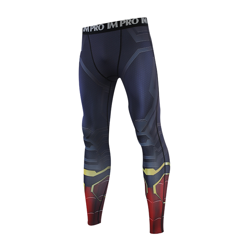 Trousers Male Leggings Compression-Tights-Pants Printed-Pattern Avengers Skinny 4 3D