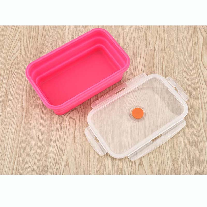 BalleenShiny Silicone Collapsible Portable Bento Box Microwave Oven Bowl Foldable Food Storage Container Lunchbox Tableware in Bowls from Home Garden