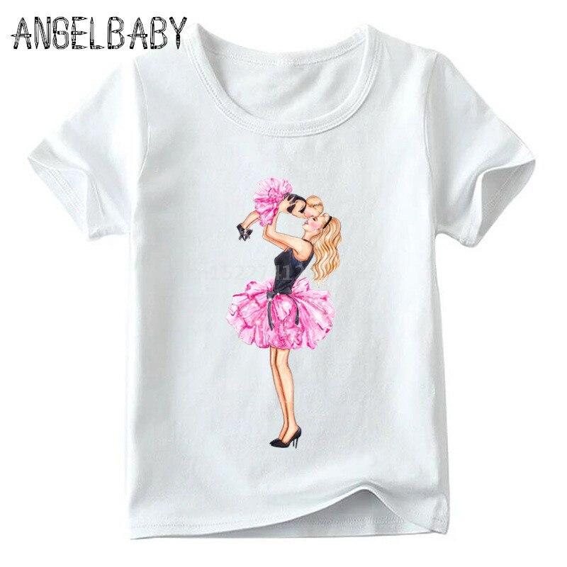 Одинаковые комплекты для семьи футболка для мальчиков и девочек с принтом супермамы и дочки одежда для подарка на День Матери Забавные футболки для детей и женщин - Цвет: 5281K