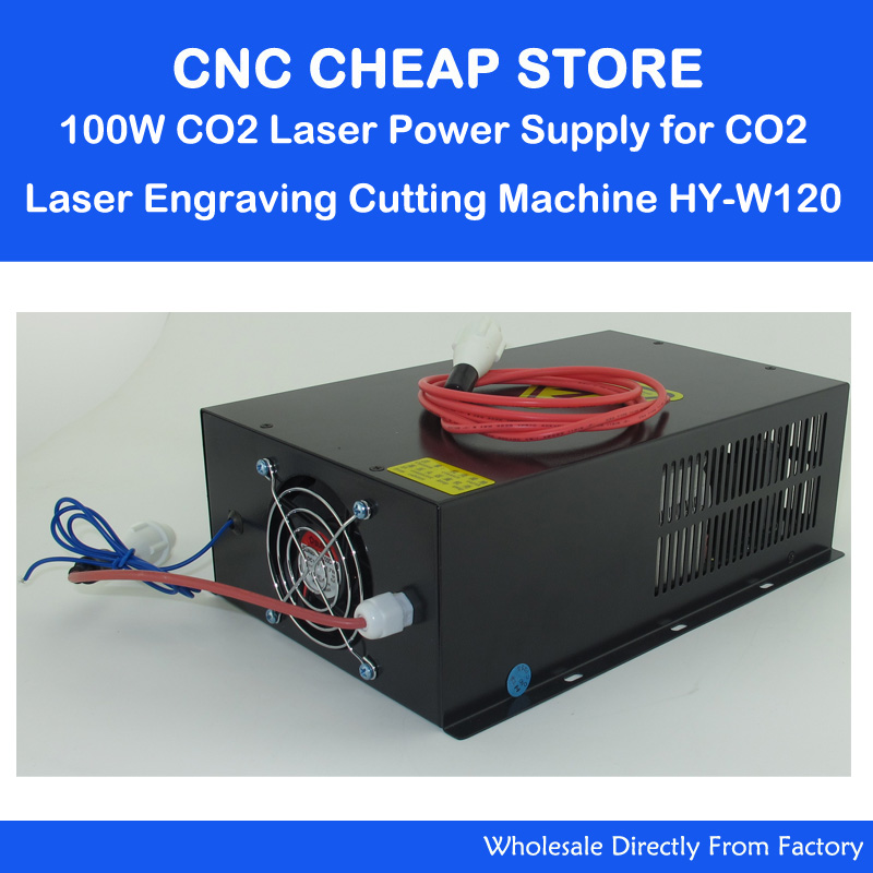HY  W120 220V/110V 120W Tube CO2 Laser Power Supply PSU Equipment DIY Engraver Engraving Cutting Laser Cutter Machine 120 2pcs lot 60w laser power supply psu high voltage flyback hongyuan hy t60 co2 engraving cutting machine ignition coil