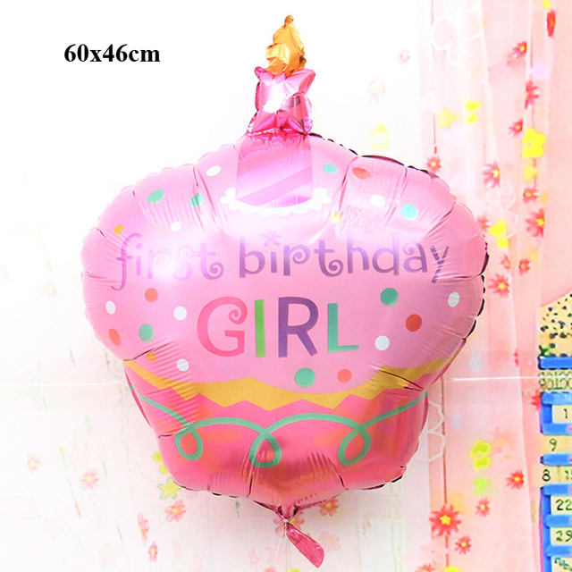 Cheap Mylar Balloons Birthday Cake Shaped Party Supplies Inflatable Helium Foil Baby Kids