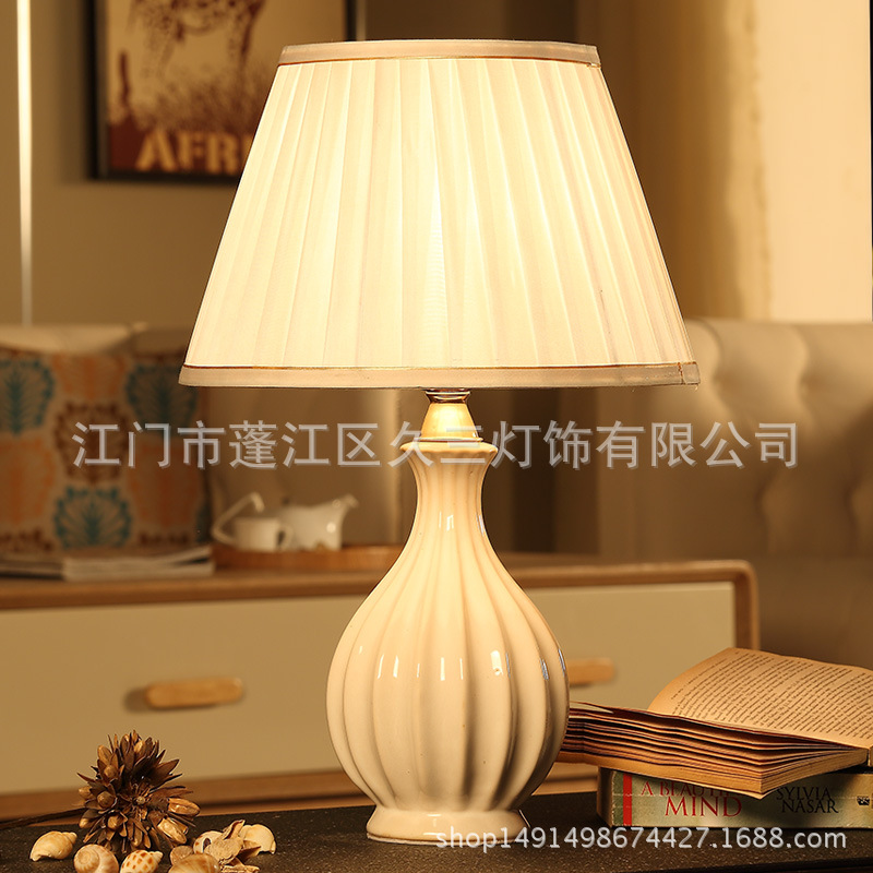 TUDA European Style Creative Ivory Ceramics Table Lamp Chinese Style for Living Room Bedroom Bedside Table Lamp 220v E27 Bulb tuda 2017 led table lamps creative fashion home cupid desk lamp living room bedroom bedside decorative table lamp european style