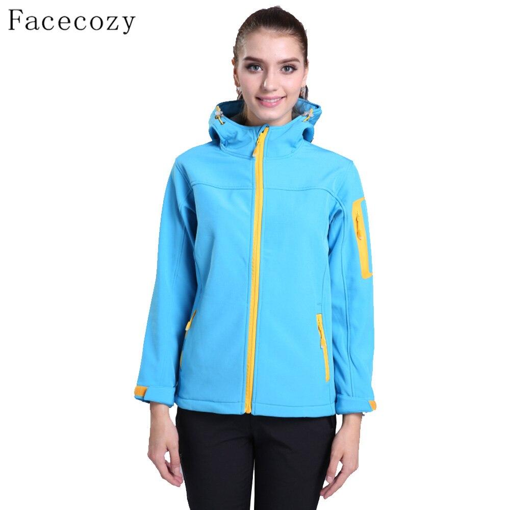 Facecozy Для женщин зимние Рыбалка флисовая куртка женская с капюшоном Открытый дышащий ветрозащитный одноцветное Цвет Охота одежда